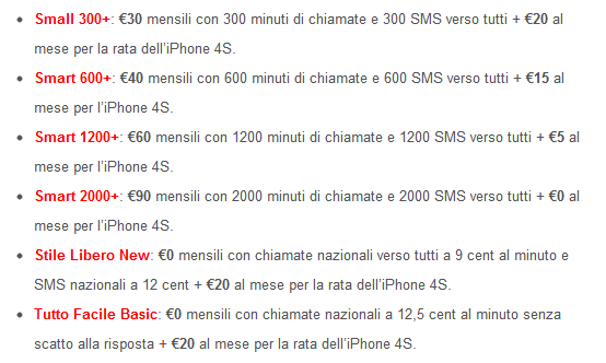 Offerte iPhone Vodafone